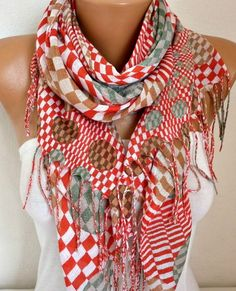 Spring Polka Dot Cotton Scarf Shawl Summer Cowl Oversized Wrap Gift Ideas For Her Women Fashion Accessories Mother Day Gift Women Scarves