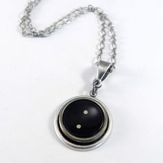 Vintage Typewriter Key Necklace - Punctuation - Period - Silver