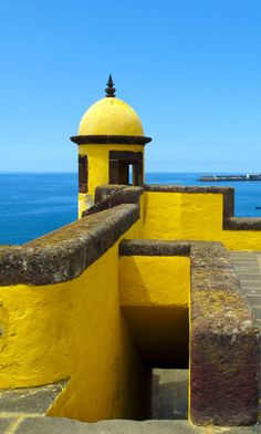 Romantic View of old Castle Fortaleza de Sao Tiago in Funchal, Madeira, Portugal
