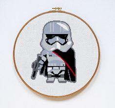 Star Wars Captain Phasma cross stitch pattern Instant