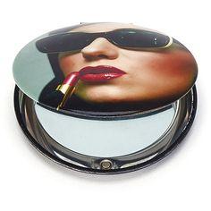 Lipstick Woman Clam Mirror