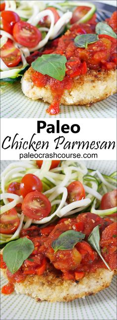 This paleo chicken parmesan recipe is a fantastic take on the classic Italian variation. It has a lovely almond crumb topped with a rich homemade marinara sauce. It can be eaten just by itself or with a delicious paleo friendly side dish. Healthy Recipes, Whole Food Recipes, Diet Recipes, Cooking Recipes, Healthy Options, Cooking Time, Delicious Recipes, Healthy Foods, Paleo Menu