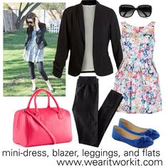 www.wearitworkit.com by fun-to-wear on Polyvore featuring Lipsy, H&M, Chloé, ballet flats, blazer and dress