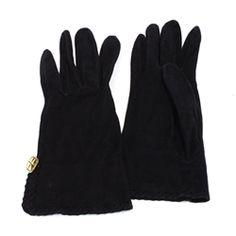 Chanel Black Suede Shortie Gloves - $349.99