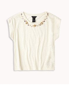 Bejeweled Burnout Tee (Kids) | FOREVER21 girls - 2050933040
