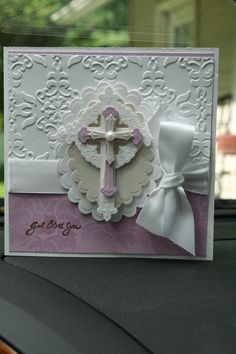 Confirmation Card Confirmation Cards, Baptism Cards, Spellbinders Cards, Stampin Up Cards, Easter Cards Religious, Funeral, First Communion Cards, Christian Cards, Card Making Inspiration