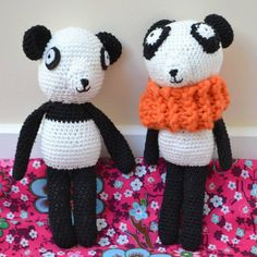 Panda en crochet , doudou en crochet , amigurumi