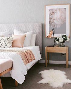Cozy bedroom decor, bedroom design ideas, modern wall artworks, modern pillow covers, modern interior design covers modern Bedroom Decor Ideas To You Decoration Bedroom, Home Decor Bedroom, Modern Bedroom, Modern Wall, Trendy Bedroom, Contemporary Bedroom, Feminine Bedroom, Artwork For Bedroom, Wall Decor