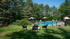 Tranquil setting for this architecturally crafted 3 BR 2 BA home on 41 acres. Enjoy nature from the expansive windows, while having breakfast on the deck or relaxing at the private in-ground pool. Vaulted ceilings, wood floors, skylights & custom kitchen.  http://www.legacysir.com/maine-real-estate/175-Bowie-Hill-Road-Durham-maine-04222/1143844/