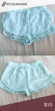Teal shorts! Super cute and flows turquoise shorts! Great in the summer and in super good condition! LA Hearts Shorts