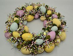 Pastel Easter Egg Wreath 32cm from Lifestyle Home and Living