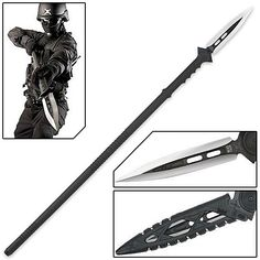 Anti-Personnel Tactical Riot Spear w/ Sheath For the ne0-dark-ages just around the corner!