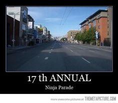 at the ninja parade