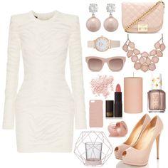 A fashion look from March 2016 featuring Balmain dresses, Forever 21 shoulder bags and Jankuo earrings. Browse and shop related looks.