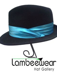 Blue Satin Interchangeable Hat Band - Blue Hat Band - Satin band- Hat Accessories - Men's Accessories - Gift for Men - Fathers Day Gift idea
