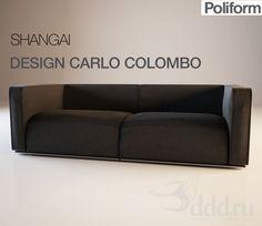 """PROFI"" SHANGAI CARLO COLOMBO 3dsMax 2010 + fbx (Vray) : Диваны : Файлы : 3D модели, уроки, текстуры, 3d max, Vray"