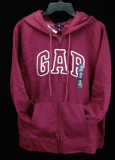 Details about Gap Hoodie Sweatshirt Arch Logo LightWeight Zipper ...