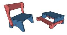 Child's Step Stool and Seat by PFritz - Google 3D Warehouse