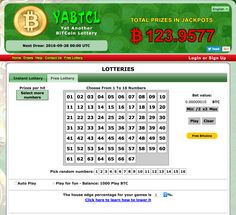Bitcoin Lottery Game