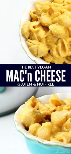 THE BEST Vegan, Gluten-Free Nut-Free Mac 'n' Cheese made with simple ingredients in under and hour! Cheesy, dreamy, comfort food classic. www.allergylicious.com #vegan #glutenfree #mac #dairyfree #macandcheese