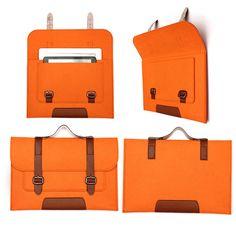 Diseño del bolso de lana sentía manga bolsa bolsa de transporte para la tableta 11.6 pulgadas