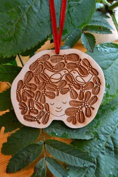 Miss Mistletoe wooden Christmas decoration £6.00 by Gabrielle Reith