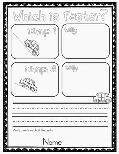Force and Motion Kindergarten Worksheets. 24 force and Motion Kindergarten Worksheets. force and Motion Experiments Keeping Your Students Engaged Primary Science, Kindergarten Science, Elementary Science, Science Classroom, Teaching Science, Kindergarten Worksheets, Science For Kids, Science Education, Science Worksheets