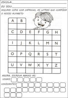 dicas de atividades de alfabetização- alfabeto