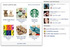Arriva Facebook Gift, ora è possibile fare regali veri agli amici di Facebook