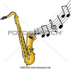 Malvorlage Saxophon