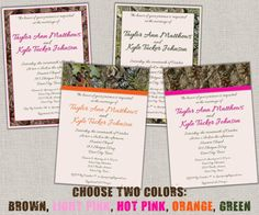 100 - Hunting Camo Wedding Invitations A7 and RSVP Cards A2
