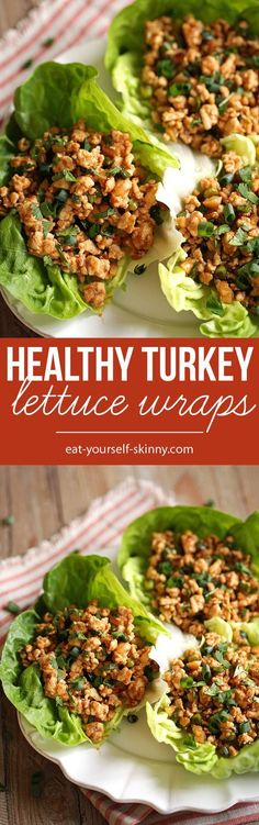 Healthy Turkey Lettuce Wraps, a favorite in our home! | This meal would be perfect for lunch or a light dinner!