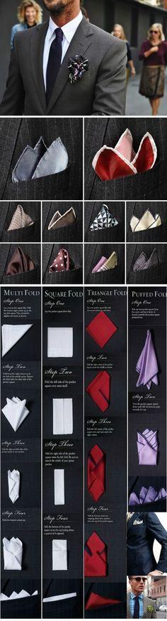 Способы красиво свернуть платочек