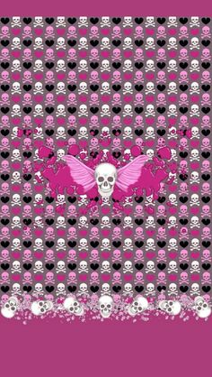 000000hot pink skull crossbonesg 6401136 girly skulls and dazzle my droid pink rocker wallpaper collection voltagebd Image collections