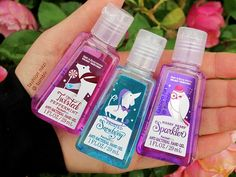 winter hand sanitizers. ♡