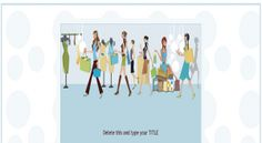 Buying Clothes Shopping Girls in a Boutique Store eBay Template FreeAuctionDesigns.com