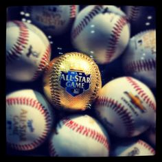 """MLB All Star Game Struck gold. Multi ball photo with """"gold"""" for titlegreeting idea."""