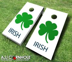 These top of the line Irish Cornhole Sets are sure to bring life to any tailgate party this football season. Show your love of the Irish! www.ajjcornhole.com