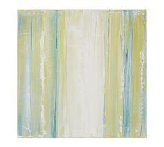 Spring II, Venetian Plaster on Wood Panel by Elise Allen #potterybarn