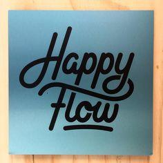 """706 Likes, 4 Comments - Tim Bontan ✏️ Bijdevleet (@bijdevleet) on Instagram: """"Monday meeting at Happy Flow.  Logo design I did a few months ago... #handlettering #vectorwork…"""""""