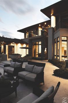Modern house patio