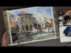 Beginning in Watercolor- Istanbul Streetscape - YouTube