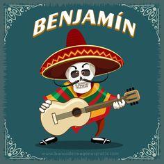 imagenes+dia+de+muertos+calaveritas+musico+con+guitarra+y+nombres+de+hombres+BENJAMIN.png (650×650)