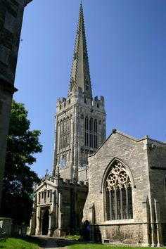 Oundle:  St. Peter's Church, with the tallest spire in Northamptonshire, at the heart of the ancient market town of Oundle.