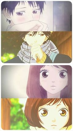 Ao Haru Ride lol same thing at a different time XD Futaba Y Kou, Futaba Yoshioka, Fairy Tail, My Little Monster, Little Monsters, Noragami, Ghibli, Kuroko, Ao Haru Ride Kou