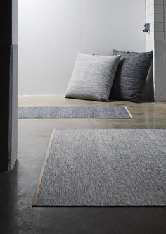 grayscale niceness, rugs inspired by birch trees.