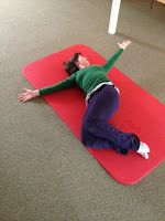 Book Openings - After these stretches its time to practice efficient spine rotation.  Book openings is a great exercise that allows the body to feel the rotation move through each vertebra.  Follow your hand with your gaze and remember to engage the oblique abdominals as you return to the beginning.