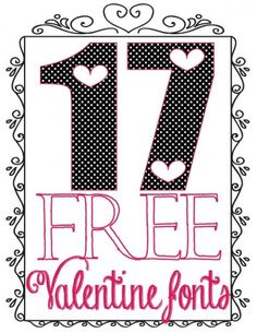 17 Free Valentine Fonts for My Fellow Font Addicts