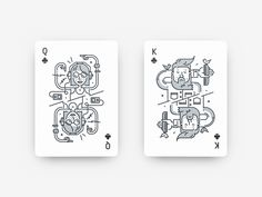 2 cards together for dribbble