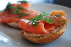 homemade bagels & lox with dill will always look amazing to me